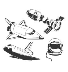 elements for vintage space astronaut vector image vector image