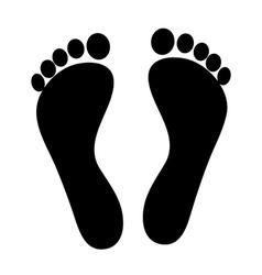 footprint - icon vector image
