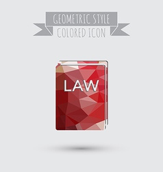 icon book of the law set of laws symbol of justice vector image
