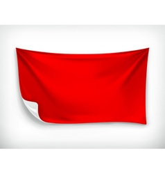 Red cloth banner vector image