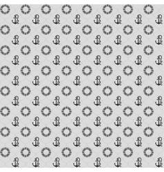 Seamless patterns gray anchors and lifebuoy vector image