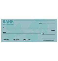 Bank check template vector image