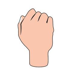 hand cartoon silhouette vector image