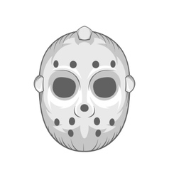 Hockey mask icon black monochrome style vector image vector image
