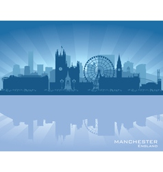 Manchester England skyline vector image