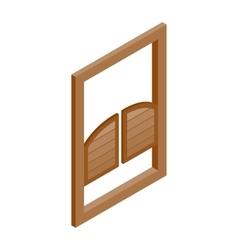 Saloon doors icon isometric 3d style vector image