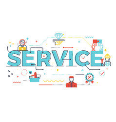service word lettering vector image vector image