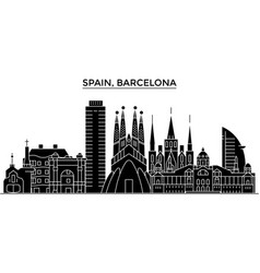 spain barcelona architecture city skyline vector image