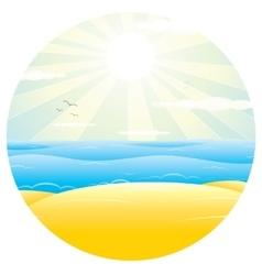 Sunny Sand Beach vector image