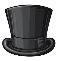 black gentleman hat vector image
