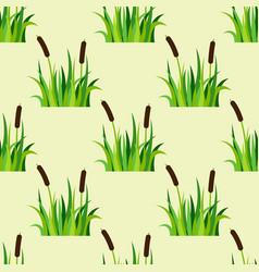 green grass nature design seamless pattern vector image