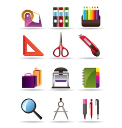 School and education bookstore tools vector image vector image