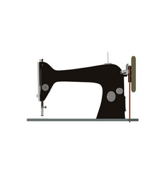 sewing machine vintage icon tailor old fashion vector image
