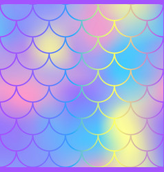 blue pink fish scale pattern with colorful mesh vector image vector image