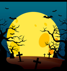 halloween poster design background vector image vector image