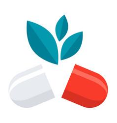 natural medical pill vector image