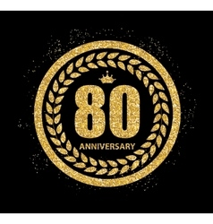 Template Logo 80 Years Anniversary vector image vector image