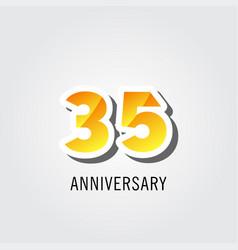 35 years anniversary celebration logo template vector