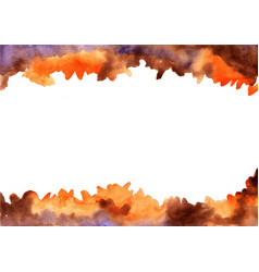 Abstract brown orange and purple watercolor vector
