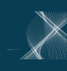 abstract dark lines vector image