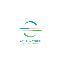 Acupuncture natural relief vector