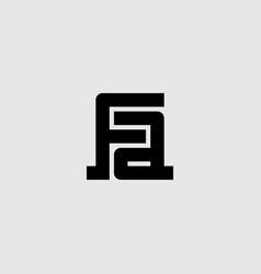 Af - logotype monogram or initials fa - design vector