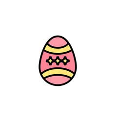 bird decoration easter egg business logo template vector image