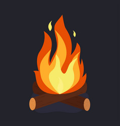 bonfire and burning vector image