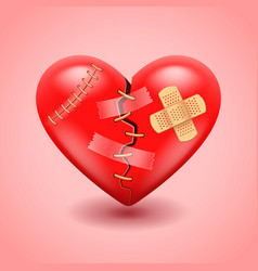 Broken heart background vector