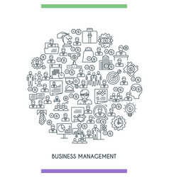 business management line concepte vector image