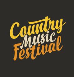 Calligraphic lettering for country music vector