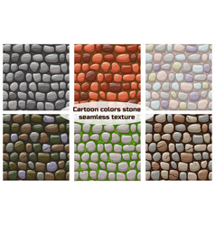 cartoon stone texture seamless background vector image