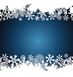 Christmas border snowflake design background vector