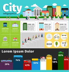 City infographics elements urban life and vector