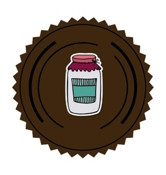 color round frame with glass jam vector image