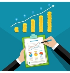 Concept of business success vector image