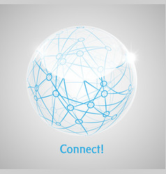 connect world abstract concept art vector image