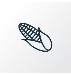 corn icon line symbol premium quality isolated vector image