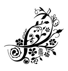 Cute floral design element vector image