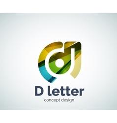 D letter concept logo template vector