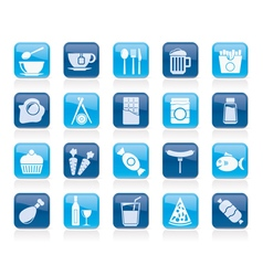 Different king of food and drinks icons 1 vector