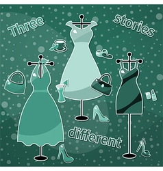 Different stories vector