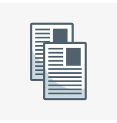 documents paper flat icon vector image