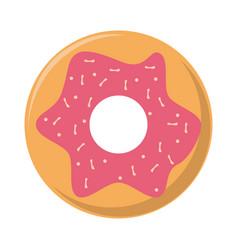 donut dessert food symbol vector image