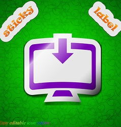Download Load Backup icon sign Symbol chic colored vector