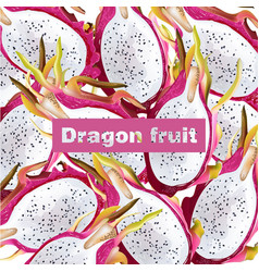 dragon fruit pattern realistic summer vector image