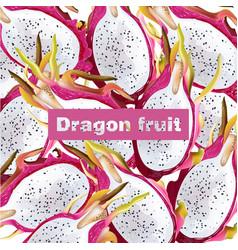 Dragon fruit pattern realistic summer vector