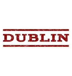 Dublin Watermark Stamp vector image