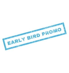 Early bird promo rubber stamp vector