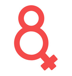 eight number shaped female gender symbol vector image